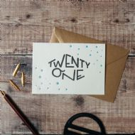 Hunter Paper Co. Twenty One Card